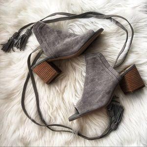 Sam Edelman NEW Sampson Gray sandals suede tassel